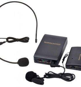 Радиомикрофон головной петличка новый
