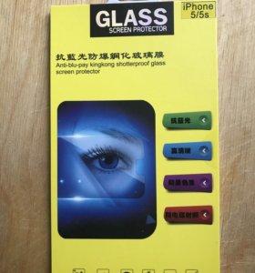 Защитное стекло на iPhone 5, 5s