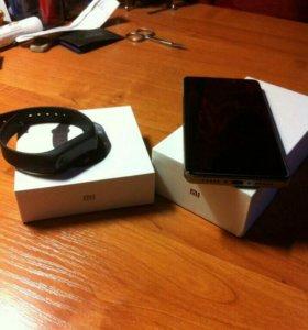 Xiaomi redmi 4+ mi band 2