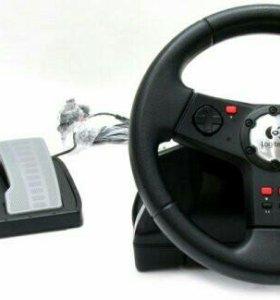 Игровая приставка-руль с педалями Logitech N231, б
