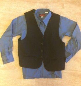 Комплект жилетка и рубашка