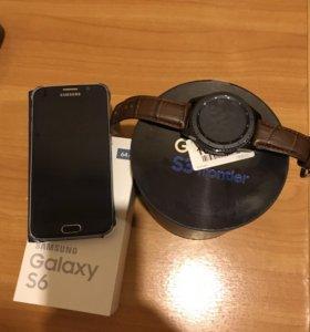 Самсунг Galaxy S6 + Самсунг Gear S3 Frontier