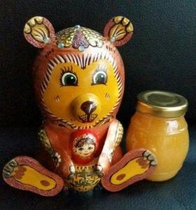 Мед цветочный Художественно изделие Маша и Медведь