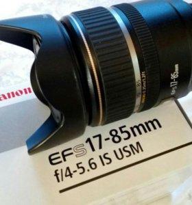 Обьектив Canon EFS 17-85 mm f/4-5,6 IS USM