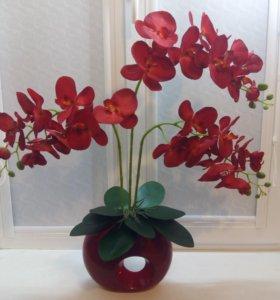 Орхидеи имитация.Топиарии.Искусственные цветы.
