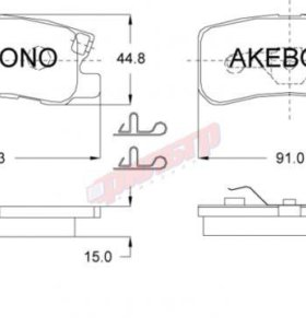 Колодки тормозные Akebono AN-632WK