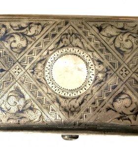 Портсигар, серебро,  1888 год