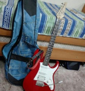 Электро гитара Homage + комбо усилитель Leem S25G