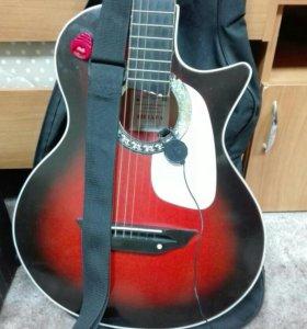 Электро акустическая гитара + чехол