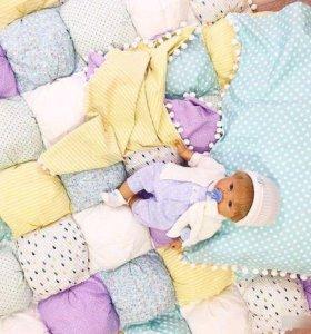 Бортики в кроватку для новорожденного и др.