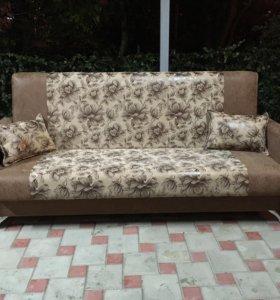 Новый диван-книжка с подлокотниками