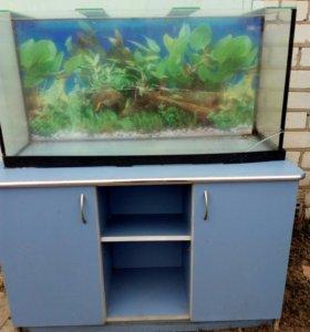Тумба с аквариумом