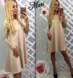 Платье трапеция новое