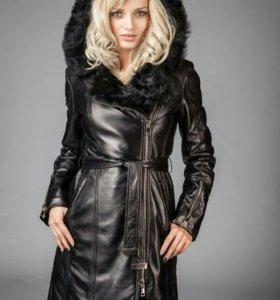 Пальто зимнее натуральное