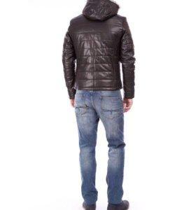 Куртка из натуральной кожи на подкладе из овчины
