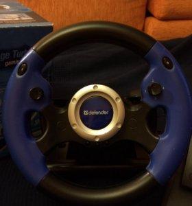 Игровой руль Defender Challenge Turbo GT б/у