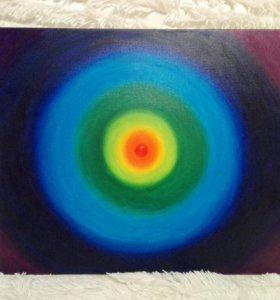 Картина абстракция, холст, масло