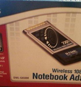 Сетевая карта для ноутбуков PCMCIA Wireless 108g