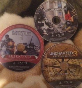 Игры для PS3 Battlefield 4, uncharted 3, crysis 2.