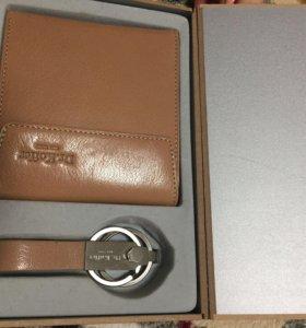 Новый кожаный кошелёк+брелок Dr.Koffer