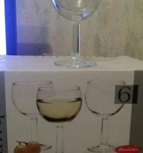Новые бокалы для вина 6шт