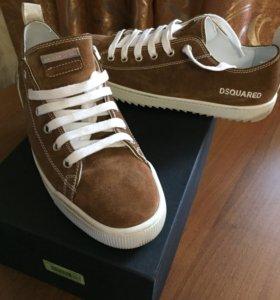 Новые замшевые кроссовки dsquared