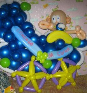 Цифры из воздушных шаров. Цветы из воздушных шаров