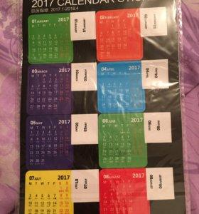 Наклейки календарь для ежедневника