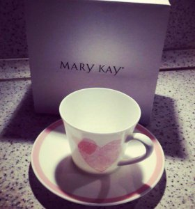 Mary Kay кружка фарфоровая с сердцами