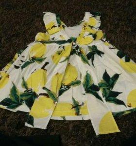 Платье детское лето