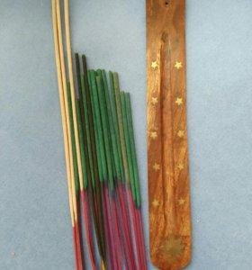 Подставка и ароматические палочки