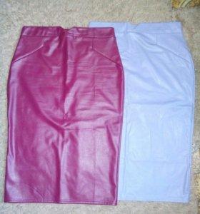 Новая юбка-карандаш под кожу