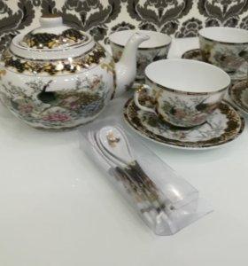 Английский фарфоровый чайный сервиз