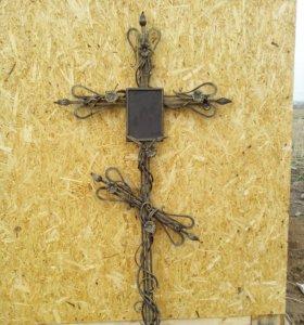 Крест могильный кованый