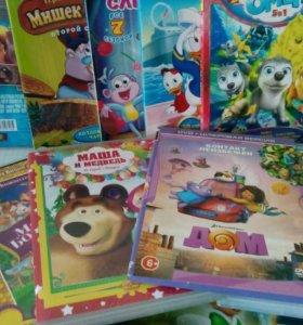 Диски DVD с детскими мультфильмами