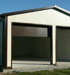 Изготовление гаражей из сэндвич панелей
