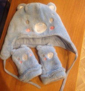 Шапочка +рукавички