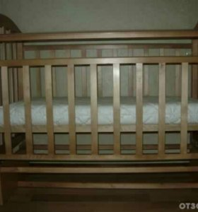 Детская кроватка антел алита-5+ латексный матрас