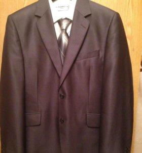 Костюм+рубашка+галстук, новый