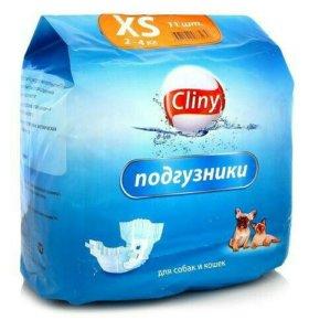 Подгузники для кошек и собак cliny xs