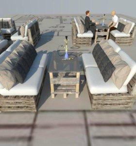 Мебель для Кафэ Кальянных Веранд