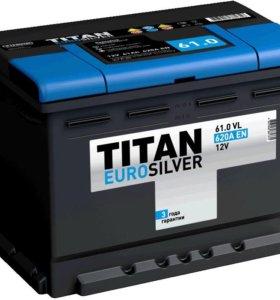 Аккумулятор TITAN Euro Silver 61