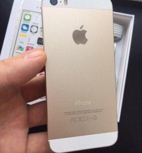 IPhone 5s Gold 32gb на гарантии новый