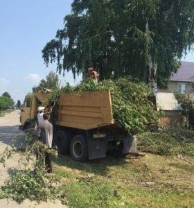 Покос травы Спил деревьев Вывоз мусора