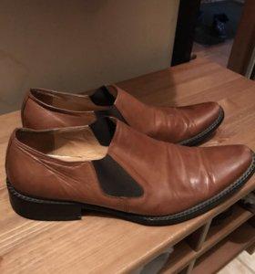 Мужские туфли из кожи