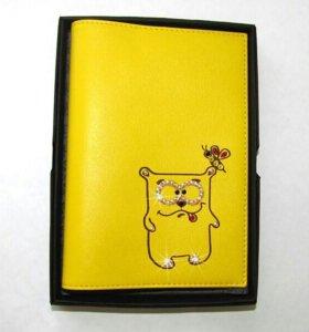 Обложка для паспорта. Нат. кожа+swarovski