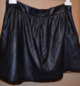 Кожаная юбка Jennyfer