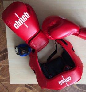 Шлем, перчатки бокс