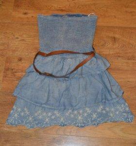Bershka Платье мини без бретелек