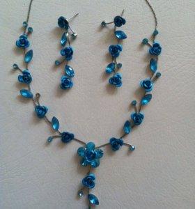 Комплект ожерелье+серьги